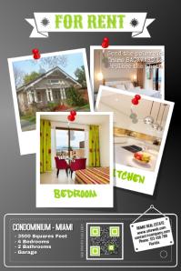 Real estate photos Poster template