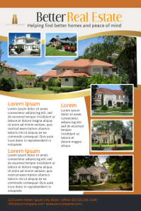 real estate poster template home sale flyer