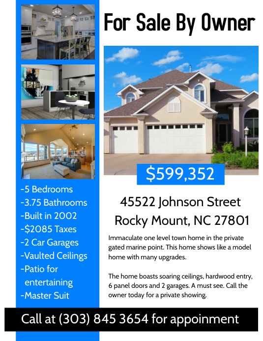 Real estate flyer template postermywall for House for sale brochure template