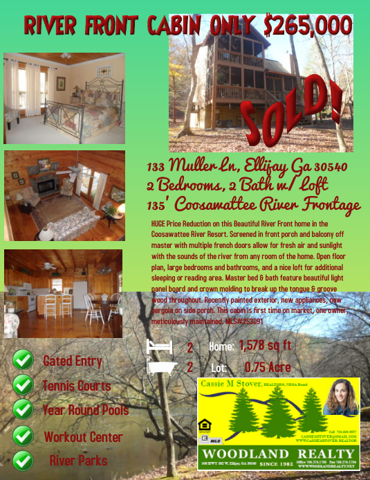 real estate flyer price reduction template