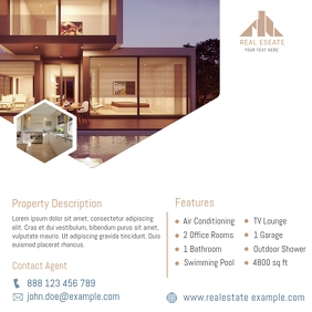 Real estate promo instagram post