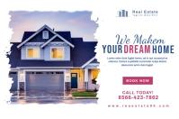 Real Estate Promotion Banner Design Transparent 4 stopy × 6 stóp template