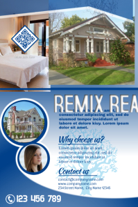 Real estate promotion flyer - Blue