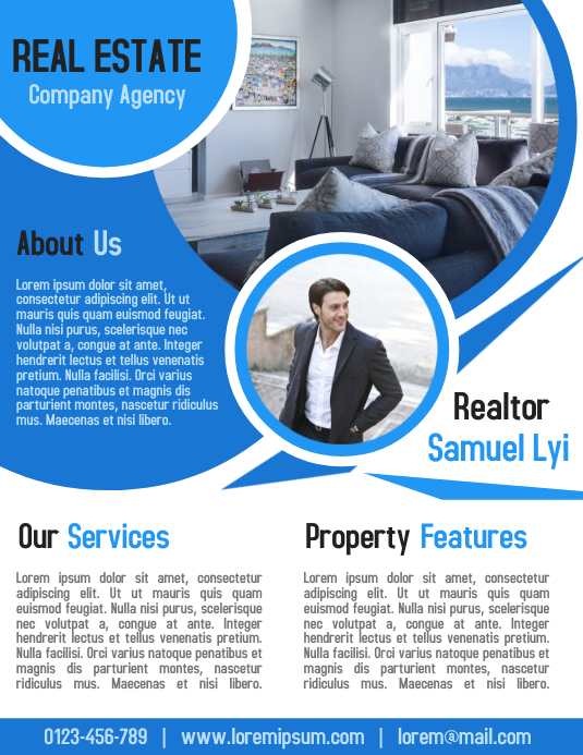 Real Estate Realtor Consultant flyer business poster