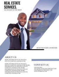 Real Estate Realtor Flyer Template Рекламная листовка (US Letter)