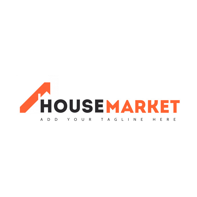 real estate related minimal logo orange and g template