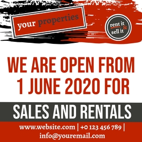 real estate reopening June 1 TEMPLATE