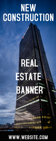 REAL ESTATE ROLL UP BANNER Rolbanner 2' × 5' template