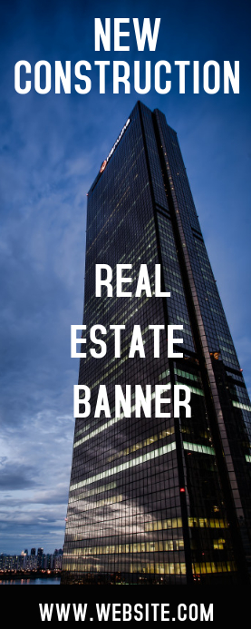 REAL ESTATE ROLL UP BANNER Spanduk Gulir Atas 2' × 5' template