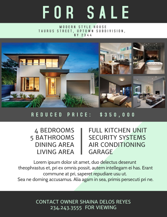 Real Estate Flyers Template Postermywall