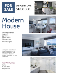 Real Estate sale Flyer Design Template