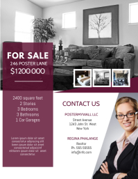 Real Estate sale Flyer Design Template