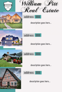 Real Estate Sales Business Flyer Home Template Poster