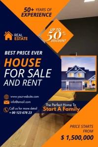 Real Estate Sales Plakat template