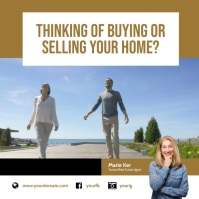 Real Estate Selling Buying Instagram Instagram-Beitrag template
