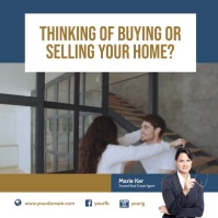 Real Estate Selling Buying Instagram template