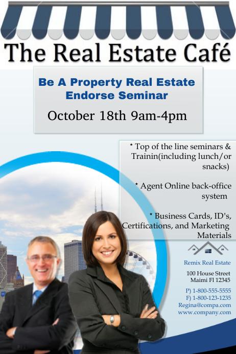real estate seminar template