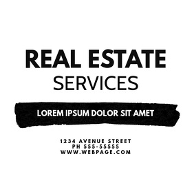 Real Estate Service Realtor Business Card Quadrado (1:1) template