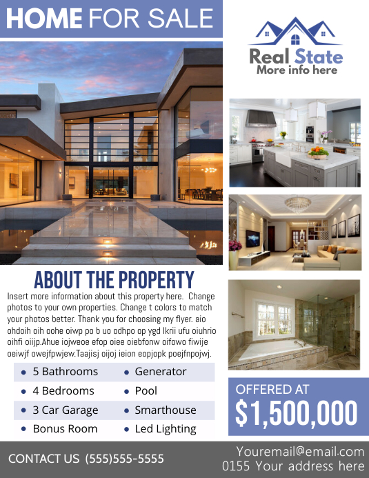 Real Estate Template Flyer (Letter pang-US)