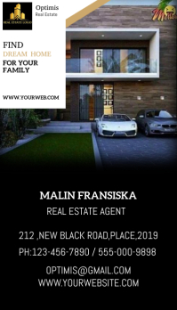 Real Estate Template Visitkort