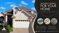 Real estate twitter banner post template