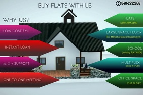 REAL ESTATE VIDEO Spanduk 4' × 6' template
