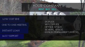 REAL ESTATE VIDEO Digitalt display (16:9) template