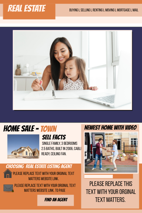 Real Estate Website Template Postermywall