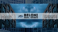 Real estate YouTube channel art template