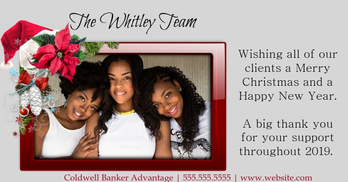 Real etstate christmas ad Facebook Shared Image template