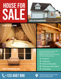 Real State House For Sale Flyer Template