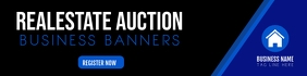 realestate auction Business BANNER template แบนเนอร์ 2' × 8'