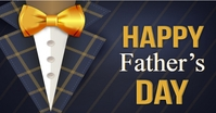 Realistic Fathers day Gedeelde afbeelding op Facebook template