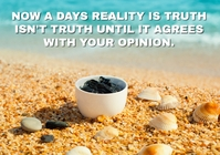 REALITY AND OPINION QUOTE TEMPLATE A5