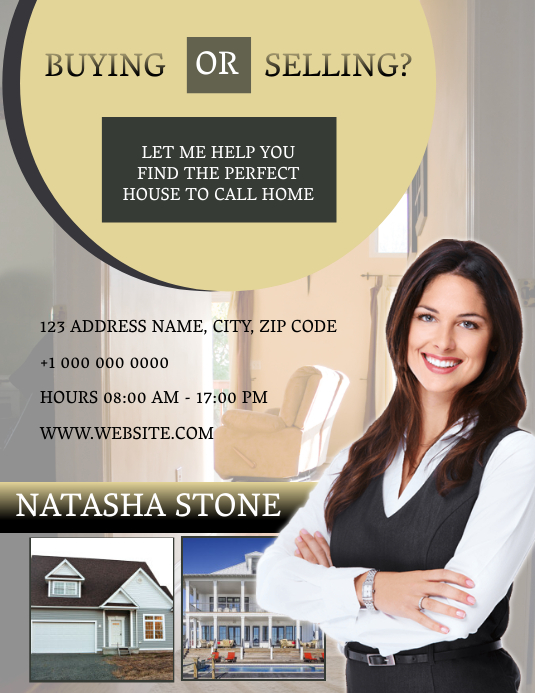 Realtor ad Template Flyer (Letter pang-US)
