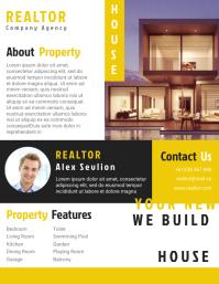 Realtor Agent Flyer Templates Design Fully Editable