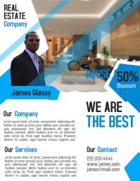 Realtor flyer & poster for real estate business investor template