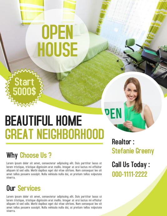 realtor flyer poster for real estate business investor template