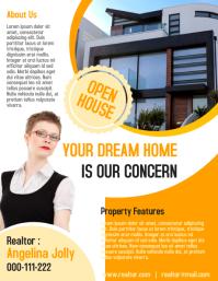 Realtor flyer & poster for real estate business investor ใบปลิว (US Letter) template