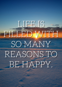 REASONS AND HAPPY QUOTE TEMPLATE A6