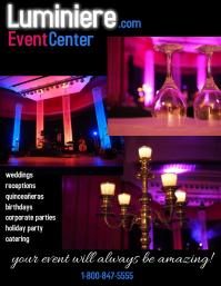 reception hall/event center/banquet hall Volante (Carta US) template