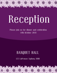 reception invitation flyer