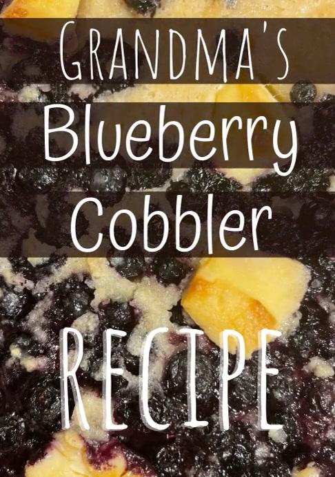 Recipe Blue Berry Cobbler Ad A4 template