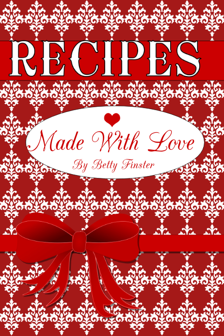 recipe book cover customize template
