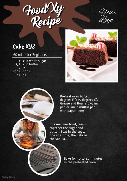 Recipe Cake Baking Food Manual Tutorial Blog