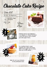Recipe Chocolate Cake Food Tutorial Manual Ad