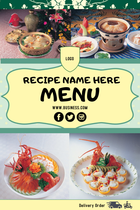 Recipe Pinterest 图片 template