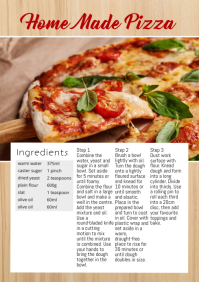 Recipe food magazine blogging ingredients Ad