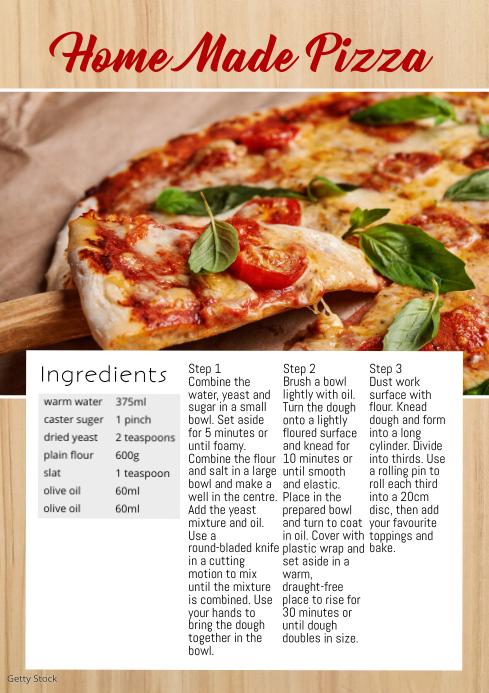 Recipe food magazine blogging ingredients Ad