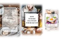 recipe/food template Spanduk 4' × 6'